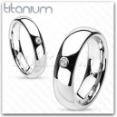 R-TM-3275  Solitaire  Centered Dome Band Ring
